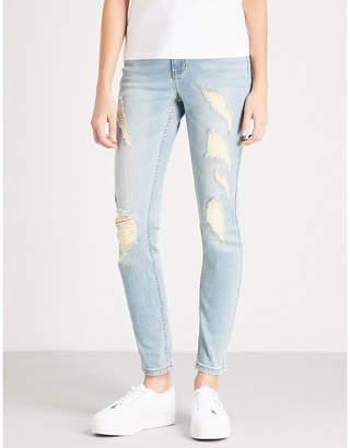 Mo&Co. Distressed denim jeans