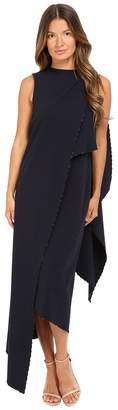 Zac Posen Stretch Cady Asymmetrical Sleeveless Dress Women's Dress