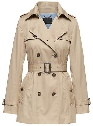 Banana Republic Petite Water-Resistant Short Trench Coat
