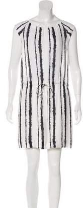 A.L.C. Silk Tie-Dye Striped Sleeveless Mini Dress