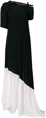 Ann Demeulemeester contrast flared dress