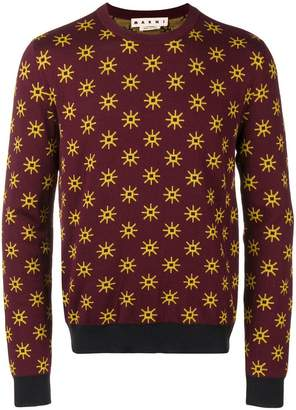 Marni star patterned sweater