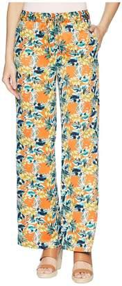 Tahari ASL Printed Satin Tie Waist Wide Leg Pants Women's Casual Pants