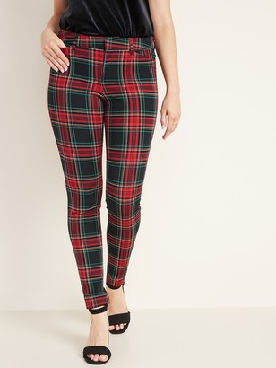 Old Navy Mid-Rise Pixie Full-Length Plaid Pants for Women