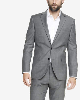 Express Classic Micro Twill Gray Suit Jacket