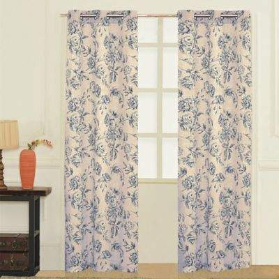 Fiona 63-Inch Grommet Top Window Curtain Panel Pair in Blue