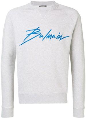 Balmain contrast logo sweatshirt