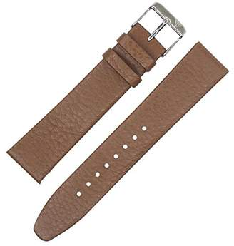 Dakota Slim Pad Tan Shrunken Geniune Leather Watch Band by 20mm)