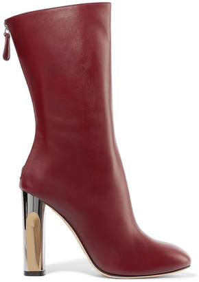 Alexander McQueen Leather Boots - Burgundy