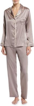 Christine Lingerie Garbo Long Silk Pajama Set