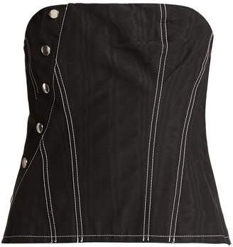 Marques Almeida MARQUES'ALMEIDA Snap cotton-blend corset