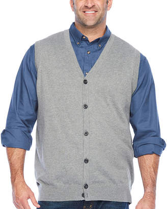 THE FOUNDRY SUPPLY CO. The Foundry Big & Tall Supply Co. Mens V Neck Sweater Vest Big and Tall