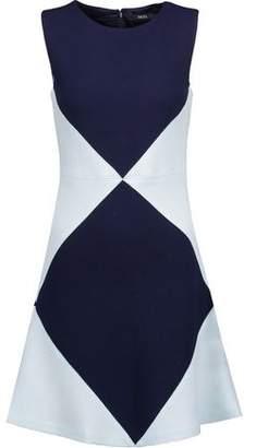 Raoul Marcelle Two-Tone Wool-Crepe Mini Dress