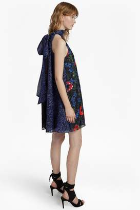French Connenction Lisette Halterneck Floral Sequin Dress