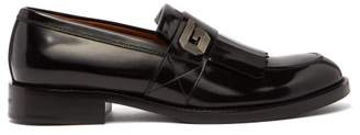 Givenchy Fringed Patent Leather Loafers - Mens - Black
