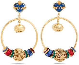 Dolce & Gabbana Charm-embellished drop earrings
