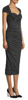 Max Mara Ella Cap Sleeve Ruched Dress