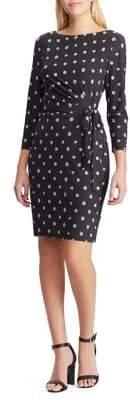Chaps Printed Jersey Slim-Fit Dress