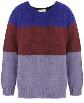 MAISON KITSUNÉ Color-Block Alpaca-Blend Sweater