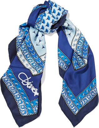Diane von Furstenberg Printed silk-twill scarf $160 thestylecure.com