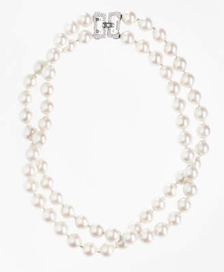 Brooks Brothers Double-Strand Glass Pearl Necklace