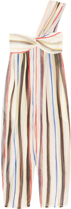 Marysia Venice striped cotton and silk-blend jumpsuit $407 thestylecure.com