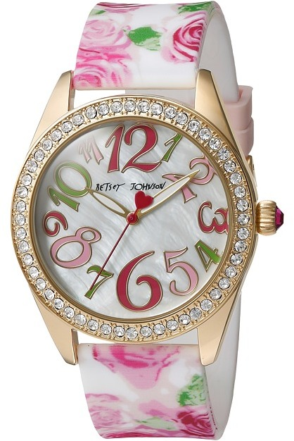 Betsey Johnson Betsey Johnson - BJ00048-180 - Rose Print Silicone Watches