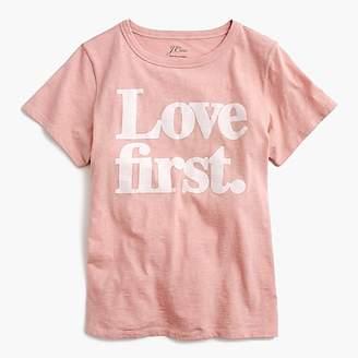 """J.Crew """"Love first"""" T-shirt"""