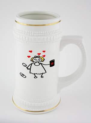 Fotomax Beer mug with golden rim of Girl in love , Cool beer mugs, cool beer pint glasses, cool beer cups, beer mugs online, buy beer mugs online, beer, custom beer glasses bear mug online mug online shopping
