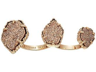 Kendra Scott Naomi Two Finger Ring Adjustable