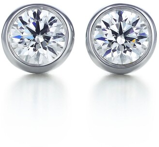 605fbdac5 Tiffany & Co. Elsa Peretti Diamonds by the Yard earrings in platinum - Size  .