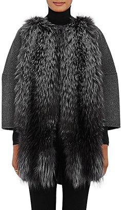 Barneys New York Women's Fur-Front Wool-Cashmere Coat $1,695 thestylecure.com
