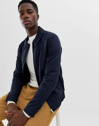 Selected jacket with chalk stripe