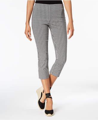 Charter Club Gingham Tummy-Control Capri Pants, Created for Macy's