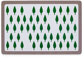 Joanna Buchanan Set of 2 Tree Place Mats - Green/Gray