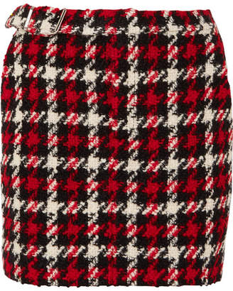 McQ Wool-blend Bouclé Mini Skirt - Red