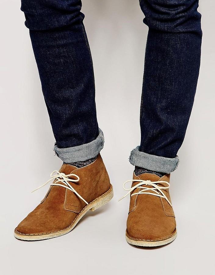 ASOS Desert Boots in Suede - Tan suede