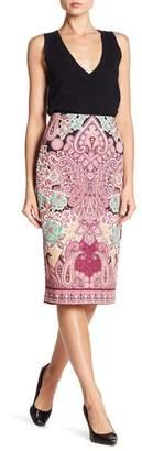 ECI Printed Scuba Midi Skirt