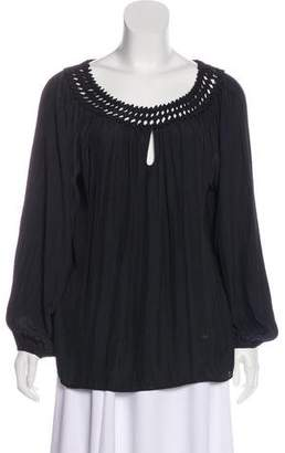 Ramy Brook Off-The-Shoulder Long Sleeve Blouse