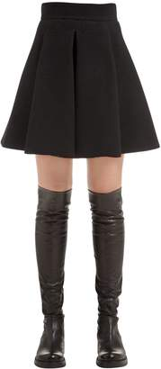 Fausto Puglisi Flared Wool Crepe Mini Skirt