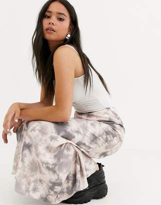 Asos Design DESIGN tie dye bias cut city maxi skirt