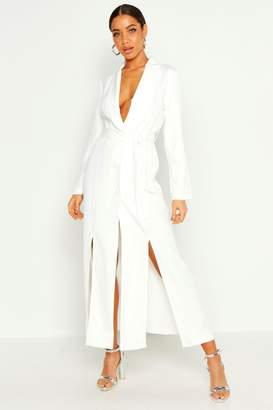 6eab7a1b674f boohoo Maxi Length Belted Blazer Dress