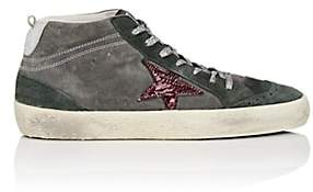 Golden Goose Women's Mid Star Suede Sneakers-Gray