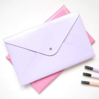 STUDY Deservedly-So Pastel Coloured Small Leather Folder