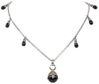 Konstantino Pythia 6-Station & Black Onyx Pendant Necklace