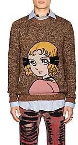 Gucci Men's Anime-Intarsia Wool Sweater - Orange