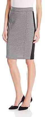 NYDJ Women's Knit Jacquard-Ponte Mix Pencil Skirt