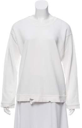 RtA Denim Distressed Scoop Neck Sweatshirt w/ Tags