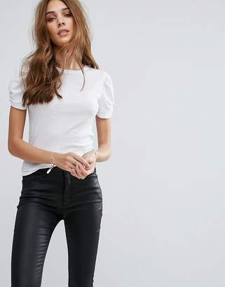 New Look Puff Sleeve T-Shirt $13 thestylecure.com