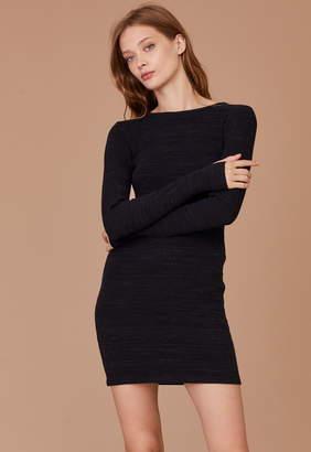 LnA Long Sleeve Slub Sweater Dress